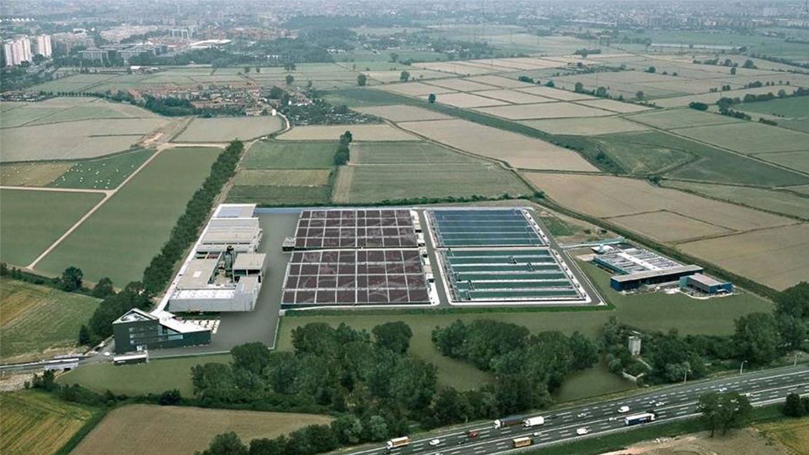 Milan wastewater recycling plant