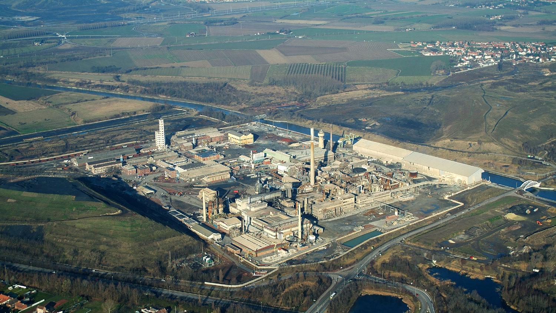 Site industriel vu du ciel