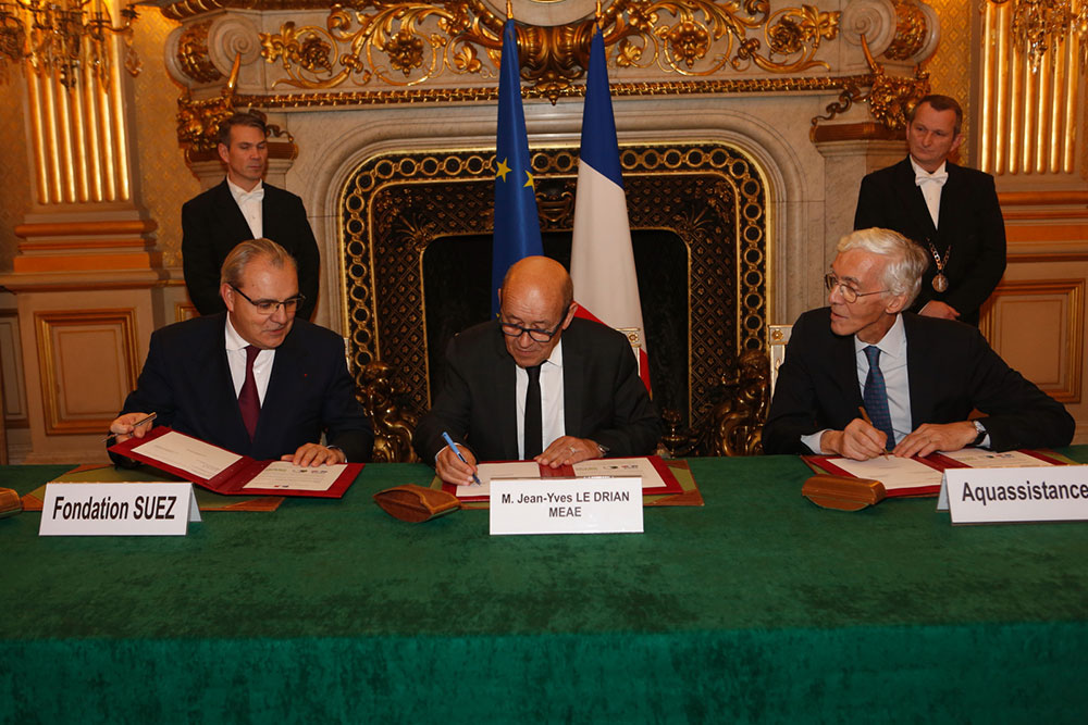 partnership between the Fondation SUEZ and the Ministry of Foreign Affairs