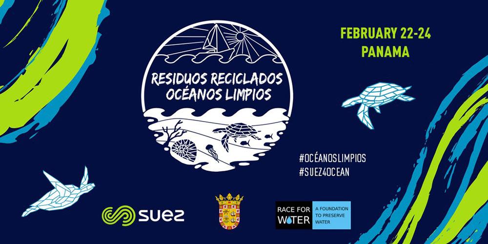 """""""Residuos reciclados oceanos limpios"""" flyer"""