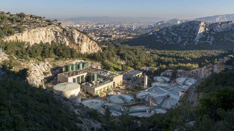 Sewage sludge treatment plant in Marseille