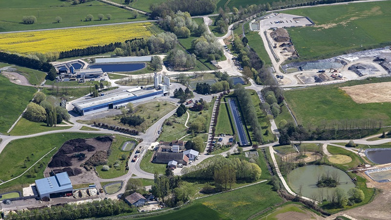 Treatment and recycling facility for polluted soil in Drambon, France