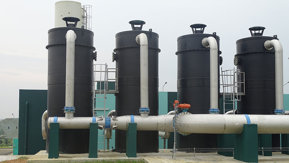 Compact modular units UCD® AERO-G at Bonoua II treatment plant that supplies Abidjan with drinking water