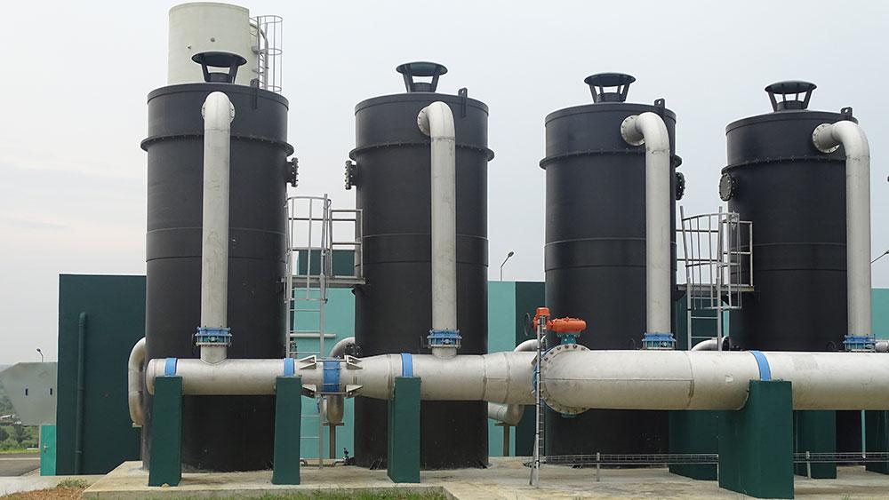 Compact modular units UCD® AERO-G at Bonoua II treatment plant that supplies Abidjan with drinking water