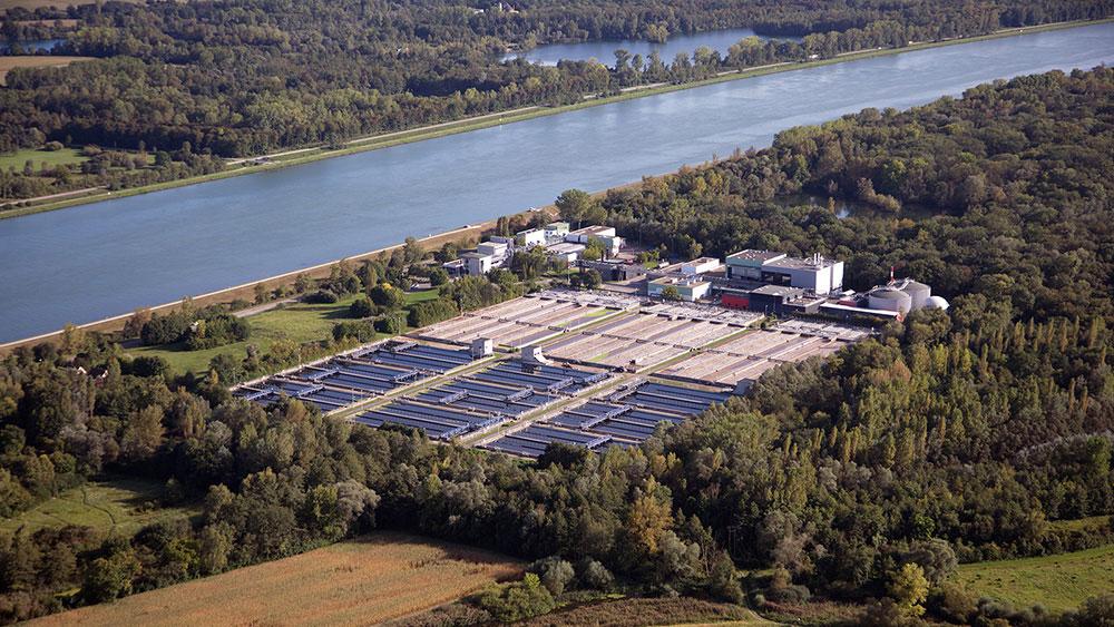 SUEZ wastewater treatment plant in Strasbourg