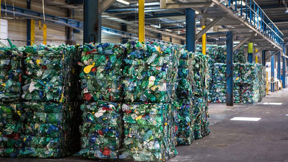 Bales of plastic