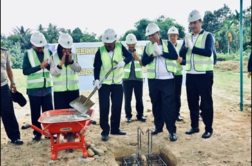 Ground breaking ceremony of water production plant extension in Medan