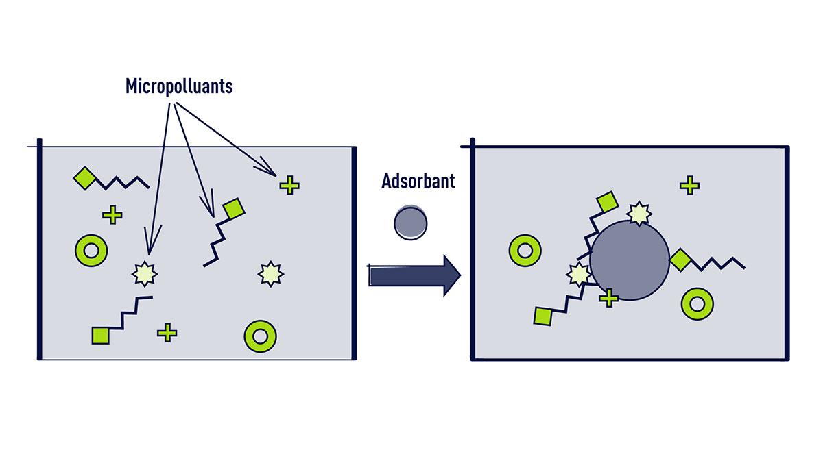 Le traitement des micropolluants par adsorption (infographie)