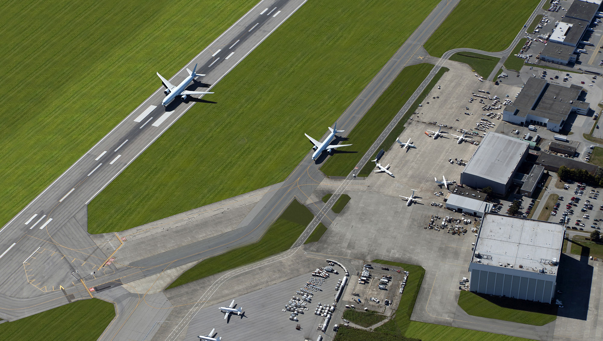 airport runways and airplanes
